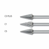 Conical Pointed Burrs SKM 6mm Shank - Tungsten Carbide
