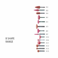 "B Shape 3mm & 1/8"" Shank Aluminium Oxide - Pink - O Hardness"