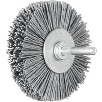 Shaft Mounted Wheel Brushes RBU - Plastic Filament Silicon Carbide (SiC) - 6mm Shaft - Various Sizes