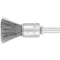 Pencil Brushes 6mm Shaft Mounted PBU - Crimped STEEL Wire - Mini Pack