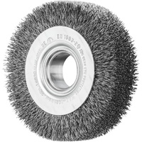 Wheel Brushes with Arbor Hole RBU - Crimped STEEL Wire - Bench Grinders - GENERAL PURPOSE
