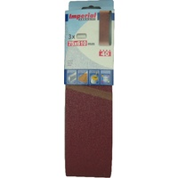 Mini Pack of 3 Linishing Belts - Aluminium Oxide 78 x 610mm - Various Grits
